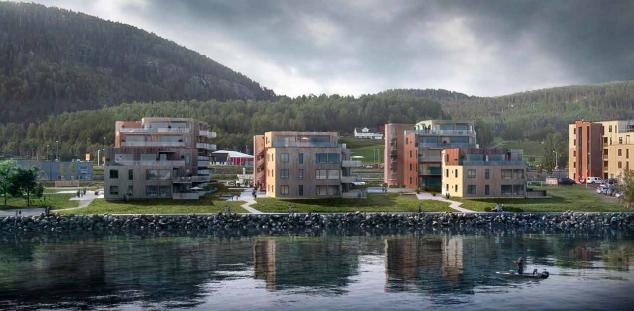 Sett fra fjorden